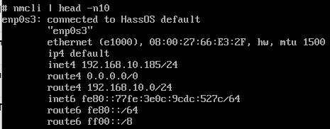 Отображение текущего IP адреса у Вашего Home Assistant под Virtualbox